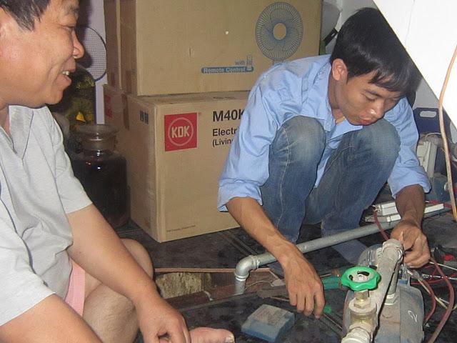 Sửa máy bơm nước tại nhà quận Hoàng Mai